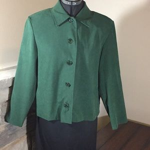 Briggs New York Green Blazer Petite Medium